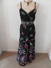 maxi dress 100%cotton  black cerise mustard  with sequins casual collections 18