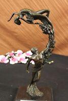 VITALEH MODERNIST BRONZE DANCERS COUPLE ABSTRACT ART SCULPTURE BALLERINAS DECOR