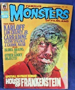 Famous Monsters of Filmland Magazine JUL, 1973  HOUSE OF FRANKENSTEIN , KARLOFF
