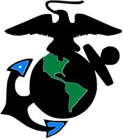 USMC SYMBOL BUMPER STICKER LAPTOP STICKER TOOL BOX HARD HAT STICKER