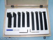 Drehstahl Set HM mit Wendeplatten 9-teilig 20 x 20 mm Drehmeißel Satz NEU