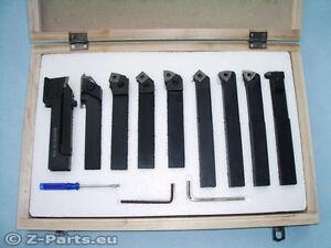 Drehstahl Set HM mit Wendeplatten 9-teilig 20 x 20 mm Drehmeißel NEU