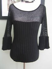 Arden B Black Sweater Top Size M