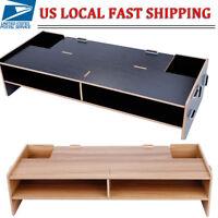 New Computer Monitor Riser Shelf LCD TV Screen Platform Stand Desk Home Office