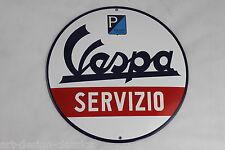 Großes Vespa Servizio - Ø 30 cm - Emailschild - Emaille Schild