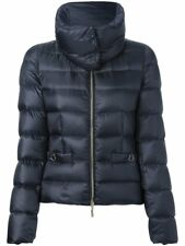 Authentic Moncler Womens Meille Jacket with Detachable Collar sz1 Navy NWOT