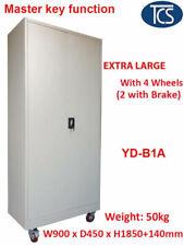 TCS YD-B1A 2 Door Steel File Cabinet with Wheels 90 x 185cm - Grey