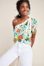 Anthropologie Larsa Floral One-Shoulder Top Size M