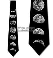 Phases of the Moon Tie Men's Lunar Neck Ties Space Necktie Brand New