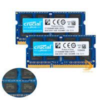 Crucial 16GB 8GB 2Rx8 PC3-12800S DDR3-1600Mhz SO-DIMM Laptop Memory RAM 204Pin