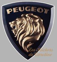 STICKER LOGO PEUGEOT LION AUTOCOLLANT INSIGNE MARQUE AUTO GARAGE 9cm PA374