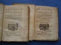 DIRITTO ROMANO-HEINECCII-LEGEM JULIA ET PAPIAM POPPAEAM COMMENTARIUS....1768