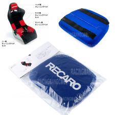1 Pcs Jdm Recaro Racing Blue Tuning Pad For Head Rest Cushion Bucket Seat Racing