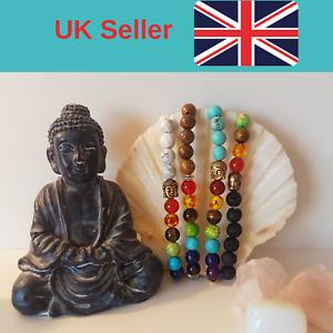 7 Chakra Crystal Stones Bracelet. Healing Beads Jewellery. reiki meditation