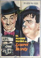 Affiche espagnole THE CRAZY WORLD OF LAUREL & HARDY Bill Scott