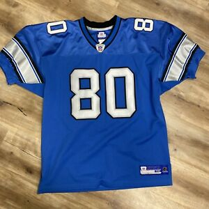 CHARLES ROGERS DETROIT LIONS REEBOK ON FIELD AUTHENTIC NFL FOOTBALL JERSEY XL 48