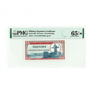 US MPC Series 681 25 cents 65 Gem Uncirculated EPQ star