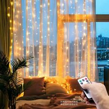 3M 300 LED Christmas Light Curtain Fairy String Remote Control USB Wedding Party