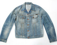 Nudie Mens Denim Jeans Jacket  Perry Bright Broken  with small defect  LARGE