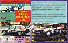 ANEXO DECAL 1/43 BMW M3 ROTHMANS BERNARD BEGUIN TOUR DE CORSE 1987 (01)