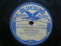 Monroe Brothers God Holds The Future In His Hands/Walk Lonesome Valley 78 rpm