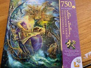 "Goldenline Fairies 750 pc puzzle 20"" X 27"" New Unique Shaped Nadia Strelkina"