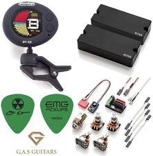 EMG DE Set Black David Ellefson 4 String Soapbar Bass 35DC & 35CS (DT-C2 TUNER )