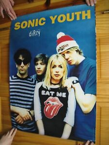 Sonic Youth Poster Dirty Band Shot Eat Me