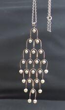 """Vtg Erik Granit of Finland Modernist Sterling Silver Pendant Necklace 4 3/4"""""""