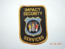 NJ New Jersey Impact Security Services Patch #A42