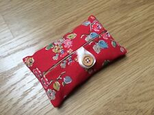 Handmade Packet Tissue Holder Made With Cath Kidston Red Woodland Rose Fabric