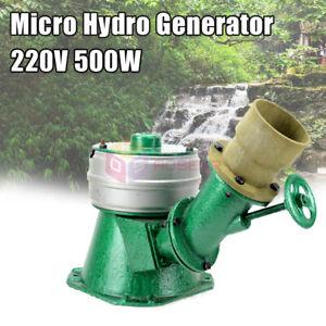 500W Micro Hydro Water Turbine Generator Hydroelectric Magnet Full Copper Core