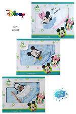 Accappatoio neonati in spugna ricamata taglia unica DISNEY Minnie e Mickey