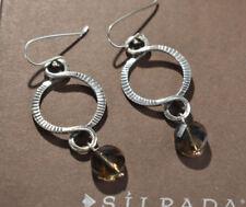 Silpada Sterling Silver Faceted Brown Smoky Quartz Dangle Earrings W1485