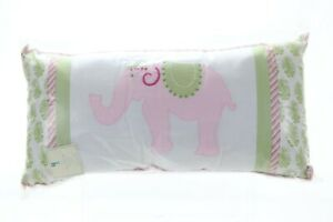 Pottery Barn Kids Lily Pink Elephant Pillow 12 x 24 Inches NWT