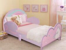 Childrens Wooden Junior Girls Bed Kids Toddler Cot Bed Childs Princess Unicorn