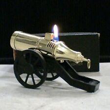 BRIQUET * Vieux Canon Automatique * Desk Wick Lighter * Feuerzeug * Accendino