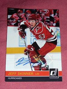 10-11 DONRUSS JEFF SKINNER AUTO RATED ROOKIE RR10 NATIONAL 1/16 * 1/1 * First