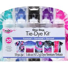 CAROUSEL Tie Dye 5 Colour Kit by Tulip - FREE POST - dyes up to 30 items DIY