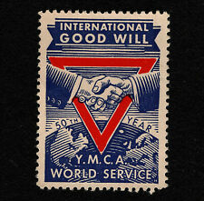 Opc 1939 Ymca World Service 50th Anniversary poster stamp Mng