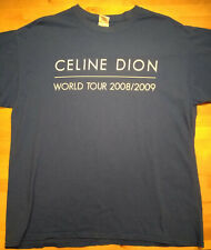 Celine Dion 2008 World Tour Taking Chances Concert Local Crew T-shirt Blue Xl