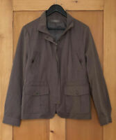 JACQUI-E  - Women's Soft Brushed Jacket - Brown -  Front Pockets - Size 14