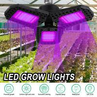 200W LED Grow Lights Panel Full Spectrum E27 LED Plant Growth Greenhouse