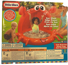 New Litte Tikes Inflatable Outdoor Kids Babies Toddlers Crab Shade Pool