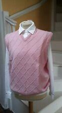 One Up Golf Pink Diamond Slipover Sweater XL bnwt