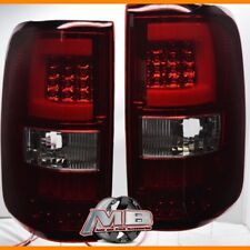 For 2004 2005 2006 2007 2008 Ford F-150 Red Clear LED Bar Tube Tail Lights 2PC