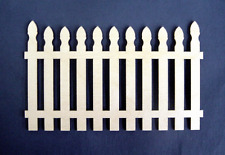 1:24  Scale  Dollhouse Miniature Picket Fence 1 pair