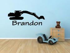 Custom Construction Kids Name Vinyl Sticker Decal for Wall Decor