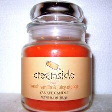 "Yankee Candle Retired ""CREAMSICLE""~ French Vanilla & Juicy Orange~ MEDIUM SWIRL"