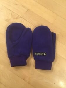 Child's FLEECE WINTER Gloves COLUMBIA Sportswear, Blue,  Medium, EUC